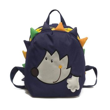 School Backpack Cute cartoon Hedgehog School Bag for girls Anti lost small animal Backpack little kids nursery school Toddler bag 1-3 years gift AT_48_3