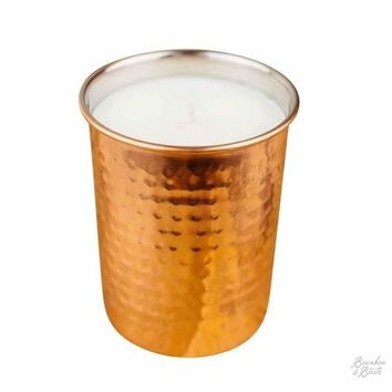 Moonshine Scented Candle In Copper Holder