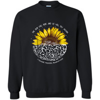 The Sun Will Rise And We Will Try Again Mental Health  Printed Crewneck Pullover Sweatshirt