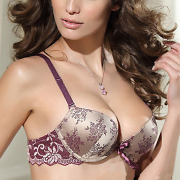 New Sexy Women Lace Satin Floral Underwear Push Up Bra Set & Panty 32/34/36/38 BC X16