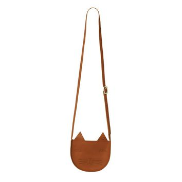 Mog Leather Shoulder Bag - Donna Wilson