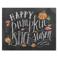 Happy Pumpkin Spice Season - Print & Canvas