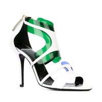 Pierre Hardy 'white Blue Green Shades' Sandals - Excelsior Milano - Farfetch.com