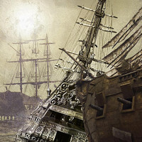Graveyard of Ships, Instant Download, 16 x 20 inches, digital download