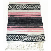 Light Pink Mexican Blanket