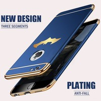 H&A Luxury Ultra Thin Shockproof Phone Cases For iPhone X 6 6s 8 7 Plus Plating Protective Case For iPhone 7 8 6 6s Plus X Cover