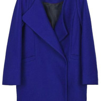 Blue Oversized Boyfriend Pea Coat