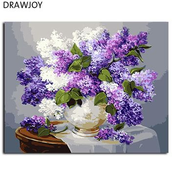 Flower No Frame Pictures Painting By Numbers Home Decor For Living Room DIY Digital Canvas Oil Painting Wall Art GX3052 40*50cm
