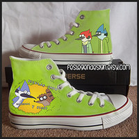 Regular Show Painted Shoes