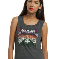 Metallica Master Of Puppets Girls Muscle Top