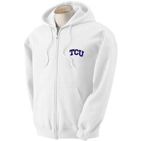 Texas Christian Horned Frogs NCAA Solid Arch Logo FullZip Hooded Fleece (3X Large)