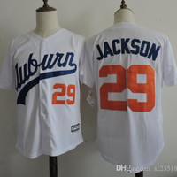 Men's NCAA Auburn Tigers COLLEGE Baseball jersey Stitched white #29 Bo Jackson University Throwback VINTAGE jersey S-3XL
