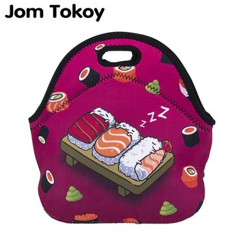 Jom Tokoy Sushi Thermal Insulated 3d print Lunch Bags for Women Kids Thermal Bag Lunch Box Food Picnic Bags Tote Handbags
