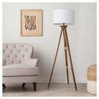 Oak Wood Tripod Floor Lamp -Threshold™ : Target