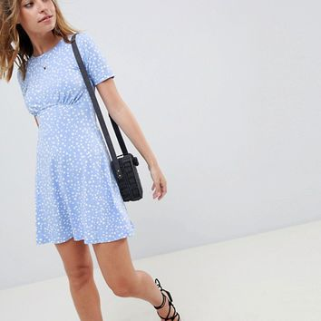ASOS DESIGN Petite ultimate mini tea dress in scatter spot at asos.com