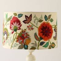 Needlework Garden Lampshade by Anthropologie in Multi Size: One Size Lighting