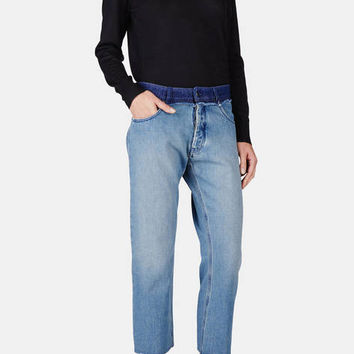 MM6 Maison Margiela — Jeans Medium Blue Blue — THE LINE
