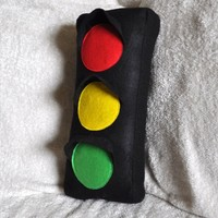 Traffic Light Plush Pillow by bedbuggs on Etsy