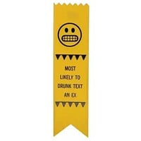 Most Likely To Drunk Text An Ex Adulting Award Ribbon on Gift Card