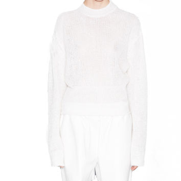 Acne Studios Pamela White Mohair Sweater