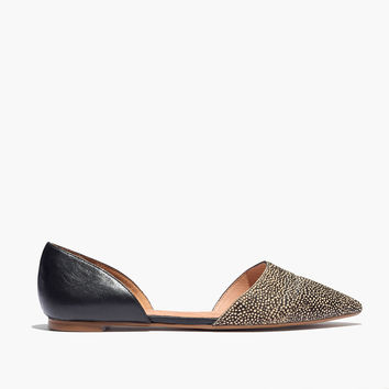 The d'Orsay Flat in Dotted Calf Hair