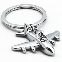 1Piece New Gift Key Chains Keychain Keyfob Keyring Civil Aviation Air Plane Metal Alloy