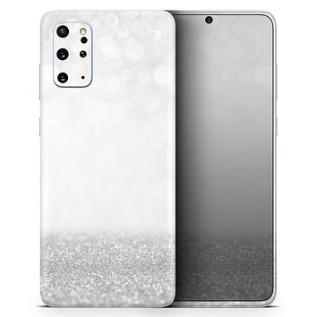 Silver and White Unfocused Sparkle Orbs - Skin-Kit for the Samsung Galaxy S-Series S20, S20 Plus, S20 Ultra , S10 & others (All Galaxy Devices Available)