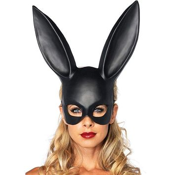Women Girl Bunny Girl Sexy Rabbit Ears Mask Party Cosplay Costume 2018 Halloween Party Masquerade Headband Photo Props Macchar Cosplay Catalogue