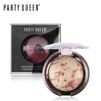 Party Queen Baked Shimmer Blush Palette Blush Powder Mix Color Bronzer Mineral Makeup Contouring Blusher Cheek Shading Cosmetics