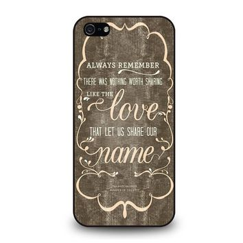 THE AVETT BROTHERS QUOTES iPhone 5 / 5S / SE Case Cover