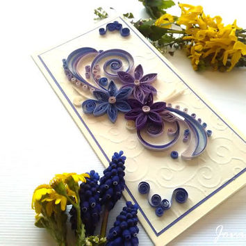 Unique handmade quilling card/ Birthday card/ Wedding card/ Anniverasry/Love you/Thank you