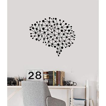 Vinyl Wall Decal Brain Connections Office Study Room Decor Inspired Art Stickers (ig5428)