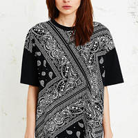 Sparkle & Fade Oversized Bandana Tee - Urban Outfitters