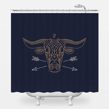 Bull Headed Shower Curtain