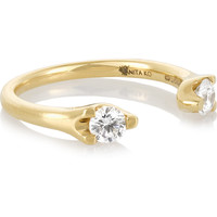 Anita Ko - Orbit 18-karat gold diamond ring
