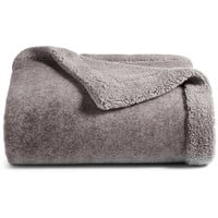 Martha Stewart Collection Classic Reversible Sherpa Throw, Created for Macy's | macys.com