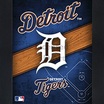 LED lighted 3D Art Officially MLB Licensed Picture - Detroit Tigers