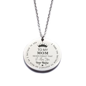 Custom Engraved Personalized [To My Mom] Necklace