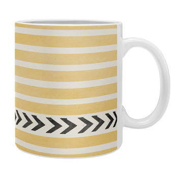 Allyson Johnson Yellow Stripes And Arrows Coffee Mug