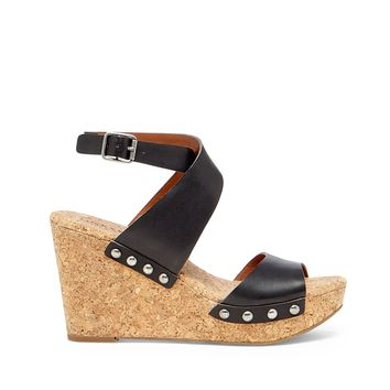Lucky Brand Missey Leather Wedge