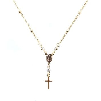 Gold Positano Rosary Necklace