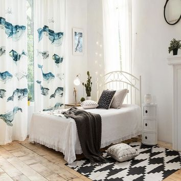 Drapes with Whales Journey