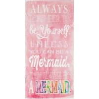 Be A Mermaid Pink Canvas Wall Art