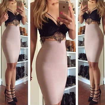 Tight sexy lace two-piece