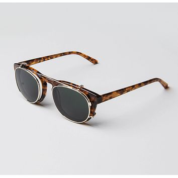 Han Kjobenhavn - Timeless Clip On 50mm Amber Sunglasses / Black Lenses