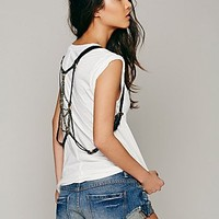 Free People & JAKIMAC Womens Pyrite Harness Belt - Black One