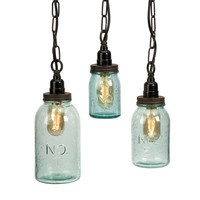IMAX Lexington Mason Jar Pendant Lights - Set of 3 | www.hayneedle.com