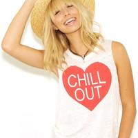 Chaser Chill Out Tee in White as seen on Heidi Klum | Boutique To You