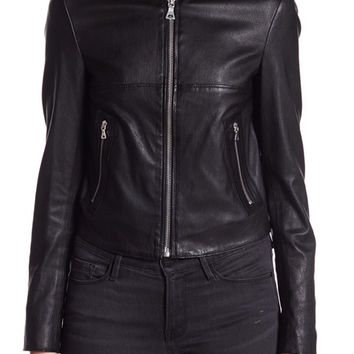 Theory | Bavewick Leather Moto Jacket | HauteLook