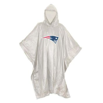 New England Patriots NFL Clear Lightweight Poncho